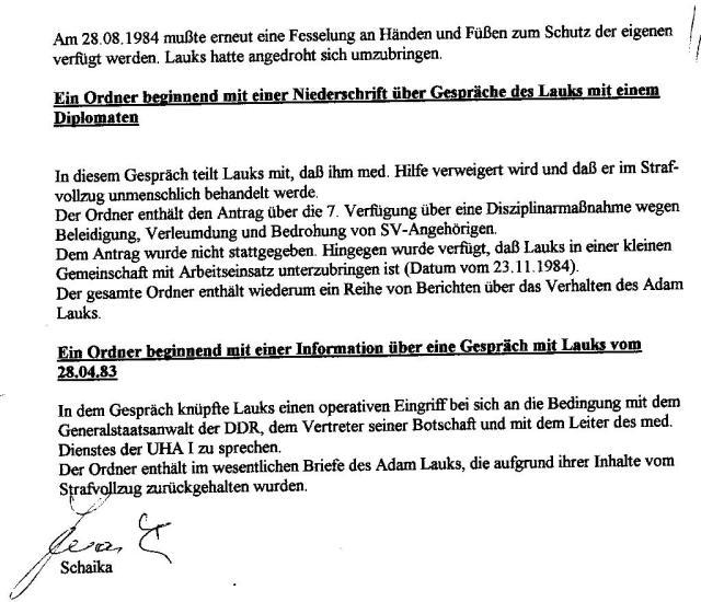 Akten - Beweise - Unterdrückung §258a Gauck und StAII 1992-1997 005