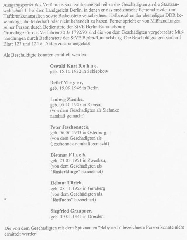 Akten - Beweise - Unterdrückung §258a Gauck und StAII 1992-1997 006