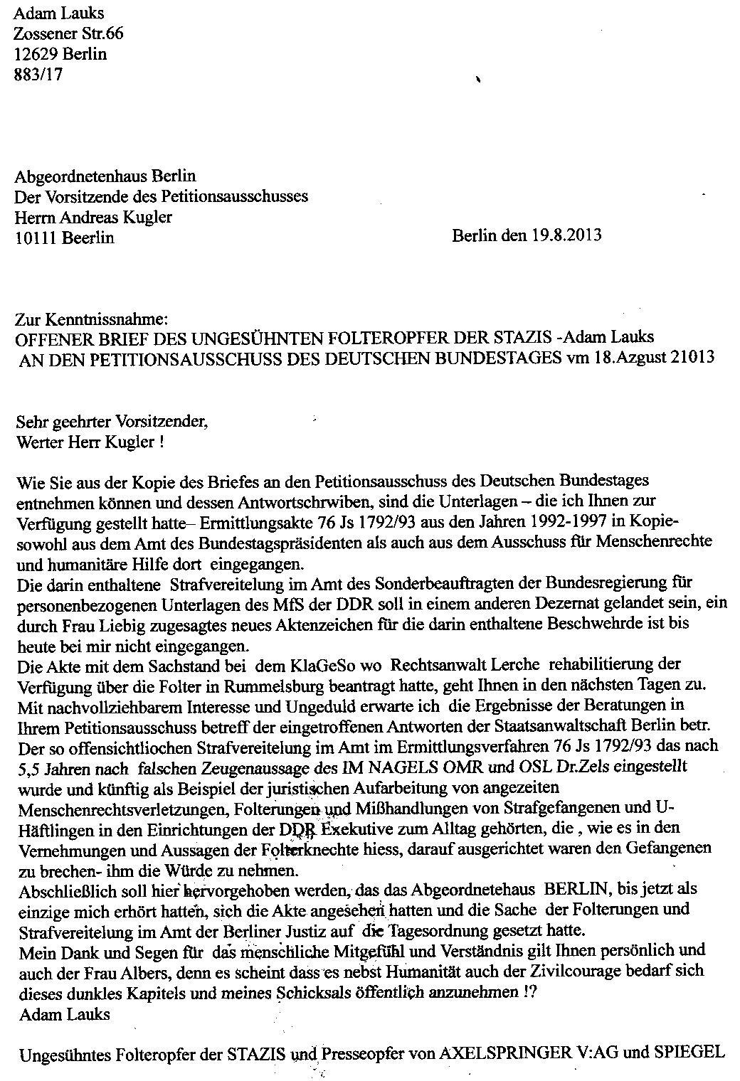an den petitopnsausschuss des abgeordnetenhauses von berlin - Ausformulierter Lebenslauf Muster