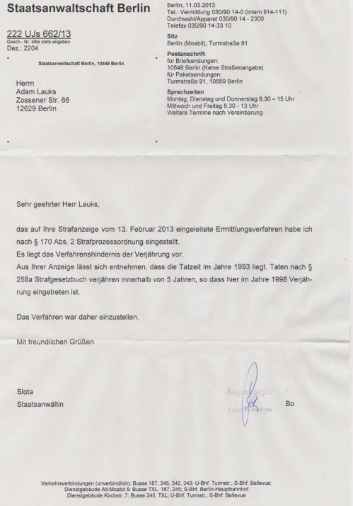 Leiter der Gauck Behörde steht unter Täterschutz