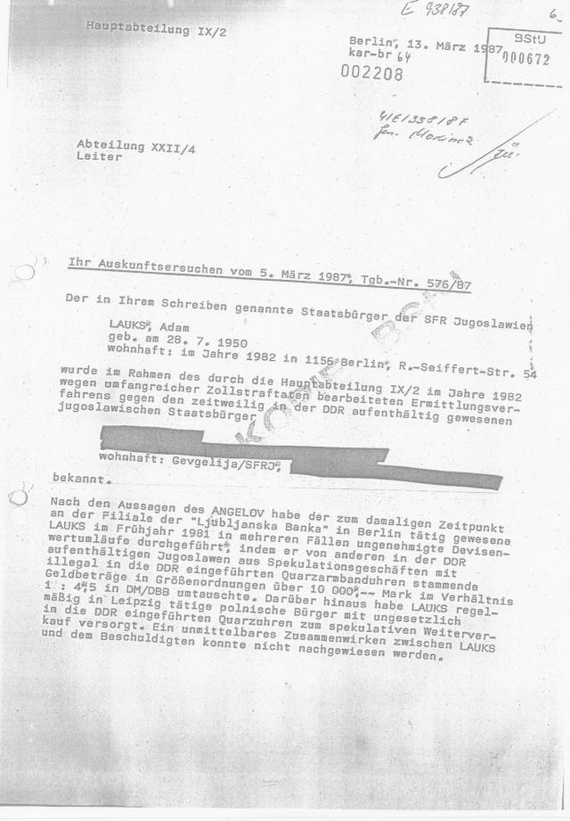 HV XXII  Terrorabwehr des MfS  - Stümper vor dem Herren 007