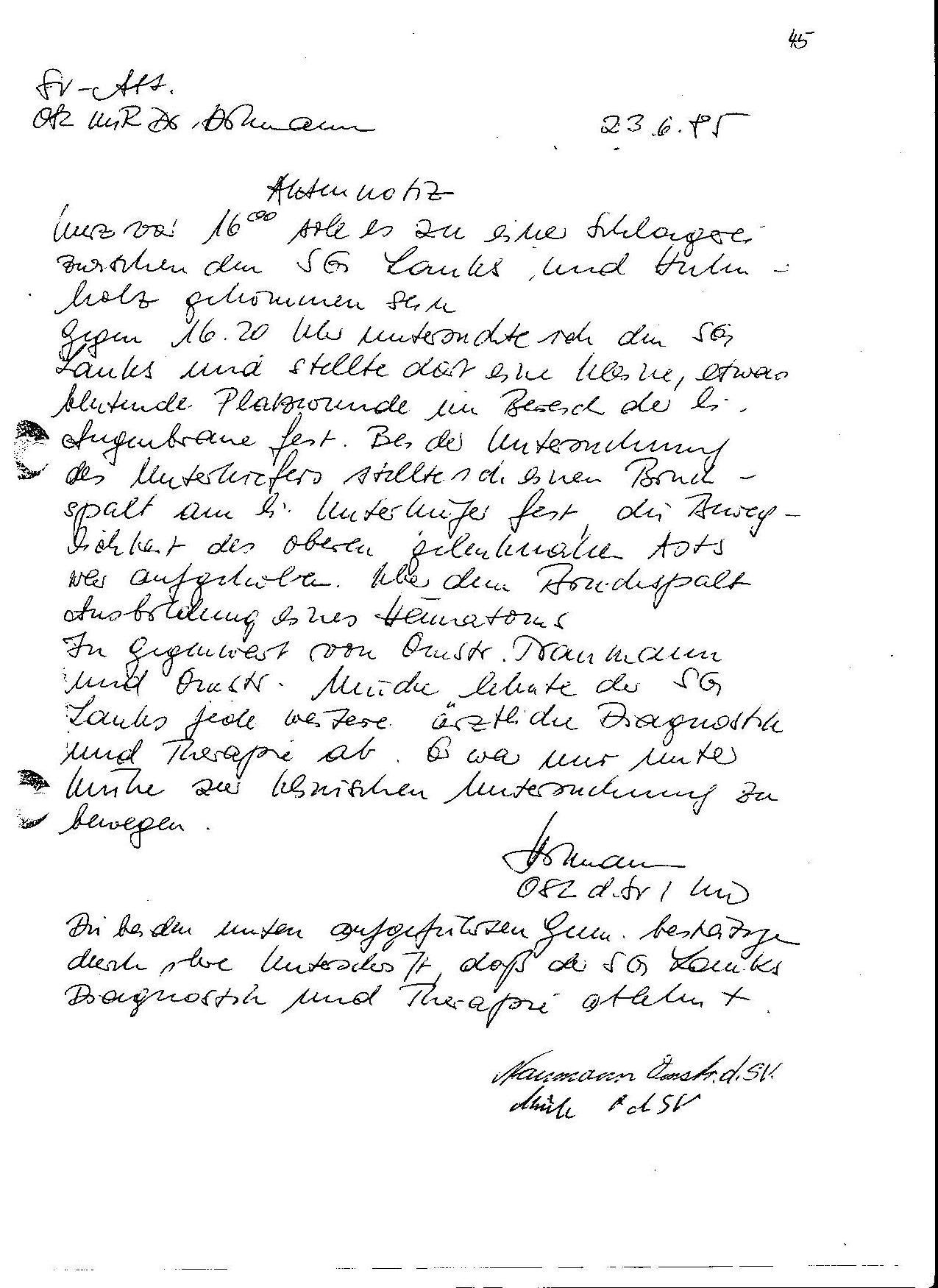 sfa - Handschriftlicher Lebenslauf