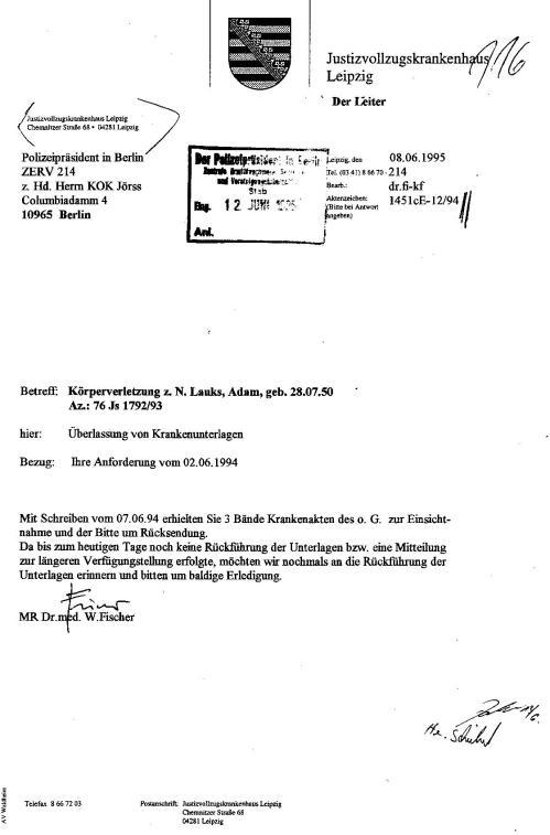Generalstaatsanwaltschaft unterdrückt Beweise für Kieferbruch 013