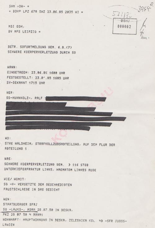 Zuarbeit zur juristischen Aufarbeitung war die erste  Aufgabe der Gaucks Behörde.