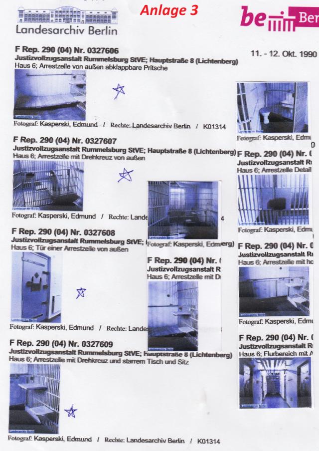 Tiegerkäfige in Arrestzellen bon StVE Berlin Rummelsburg