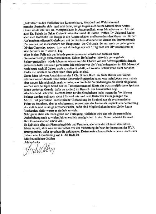 ZUSATZVEREINBARUNG ZUM EINIGUNGSVERTRAG  hate die STASI-Opfer  und damit zusammende Verbrechen einfach  mit einem Federstrich eliminiert. In der DDR wurde nicht Gefoltert und nicht mißhandelt !