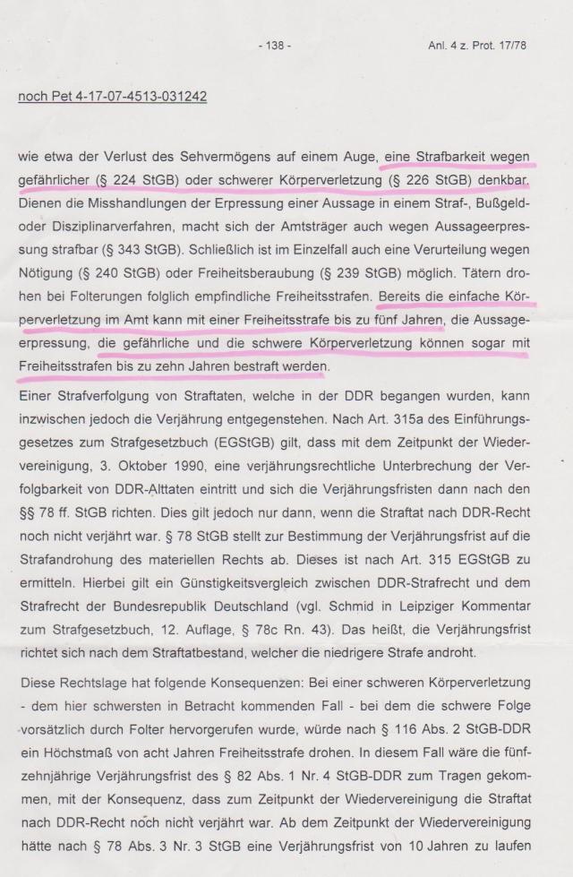 2002 wurde Völkerstrafgesetzbuch unterzeichnet - § Folter ausgeklammert
