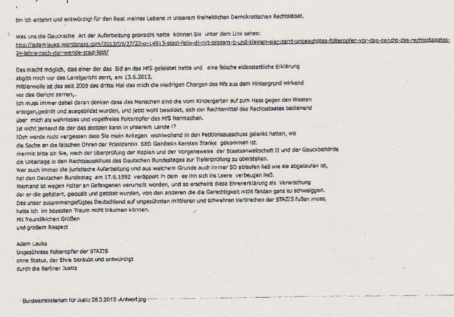 Hat Herr Dierig in der Gauck s Behörde gedient !??
