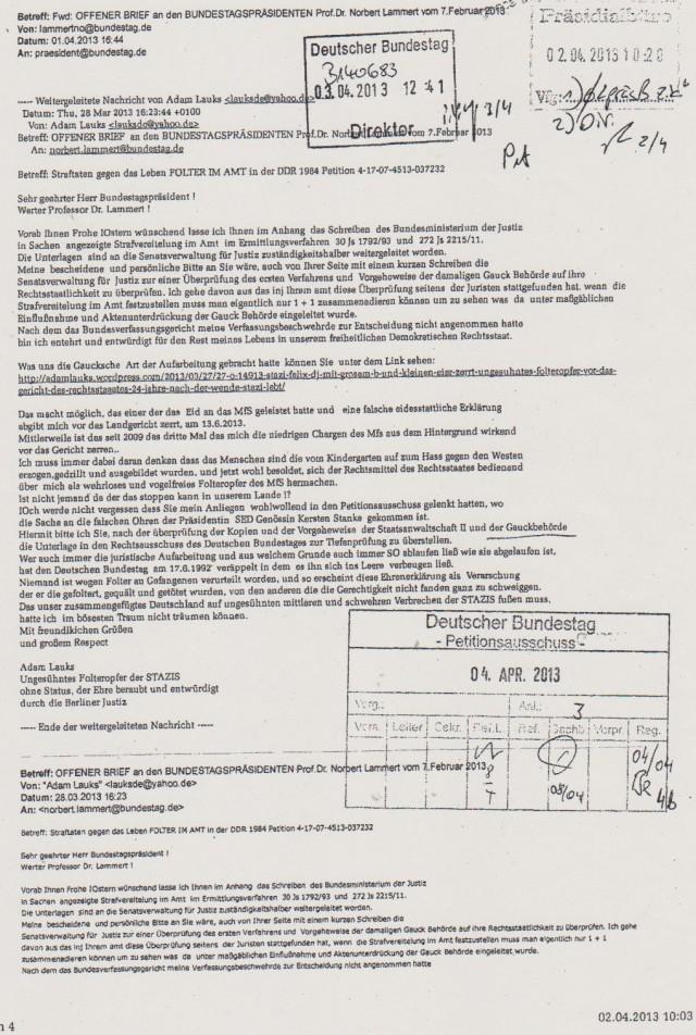 Deutscher Bundestag Direktor 03.04.2013