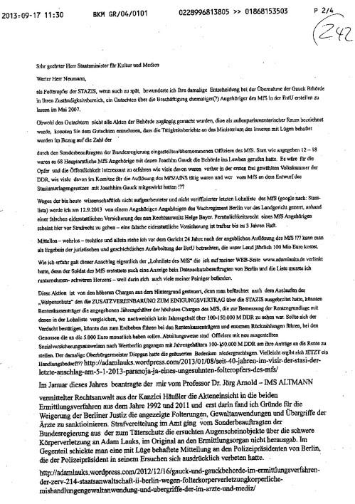 Nicht 12 wie vom Gauck angegeben sondern 68 STAZIS gründeten die Behörde.
