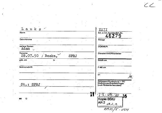 XXII & XV 28.APR.1987