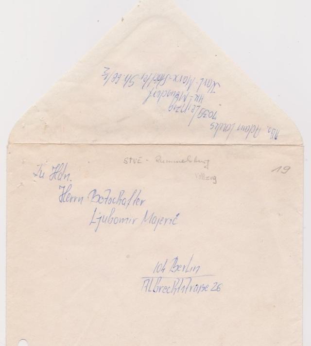 Der Brief hat niemals  Rummelsburg verlassen- Sauber übersetzt, blieb er in den Klauen der STASI als bester Bericht über meinen Gesundheitszustand und Übergriuffe der Ärzte - chronologisch.