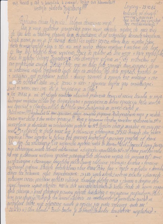 """Die Übersetzung habe ich auch selbst angefertigt und  den """"Nachbarn"""" zur Kenntnis gegeben. ICH hatte nichts und vor niemandem was zu verbergen. Seit  spätestens 10.6.1982 nicht mehr."""