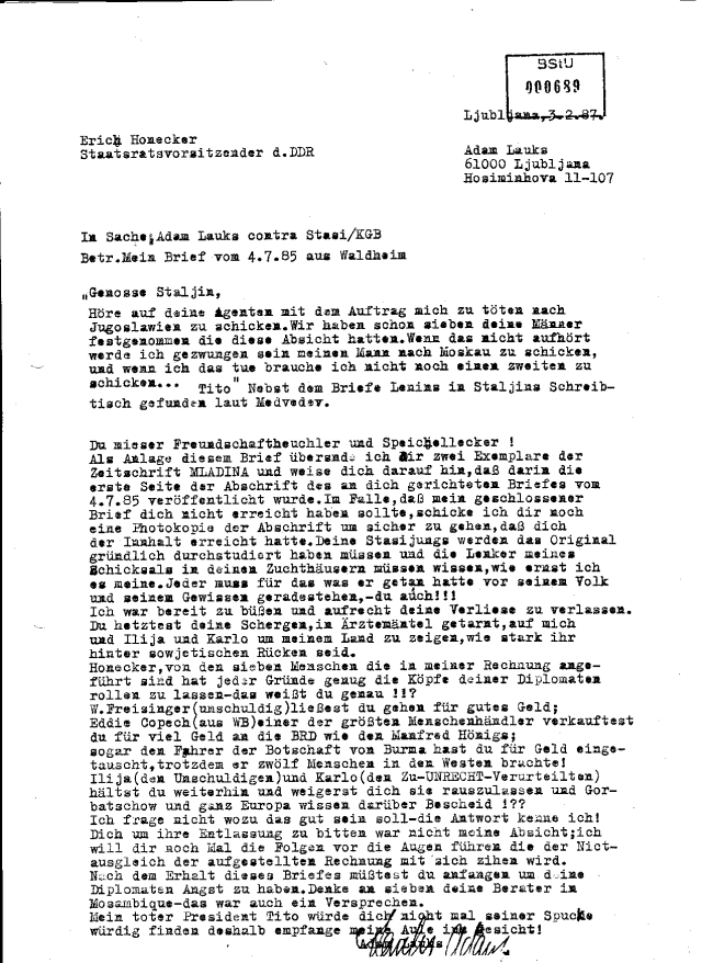 Erich Honecker Staatsratsvorsitzender d. DDR