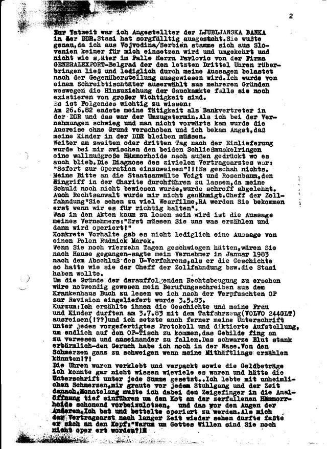 """4. Die Staatsanwaltschaft muss zur Kenntnis nehmen, das der Antrag meines """" Verteidigers""""( Dr.Friedrich Wolff - IMS JURA ) auf Freispruch gelautet hatte, ohne dass es mit mir abgesprochen war, was doch eine erhebliche Diskrepanz in der Rechtssprechung deutlich werden läßt."""