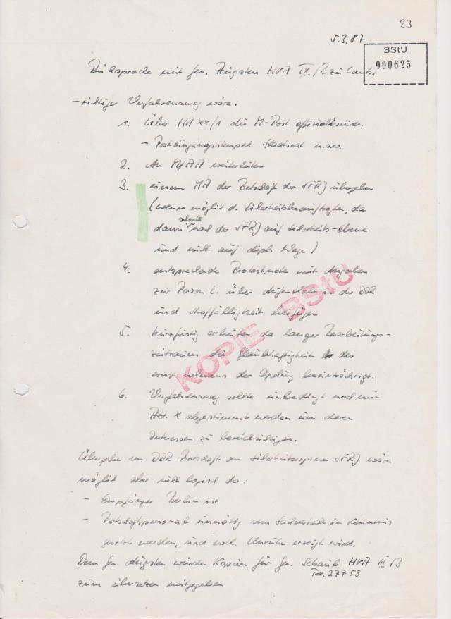 HV IX/B Grossmanns Mannen kamen ins Trudeln ? W A R U M erst jetzt, die Schlussrechnung hatten die am 4.7.1985 in der Speziellen Strafvollzugsabteilung in Waldheim überricht bekommen !?