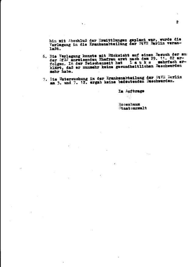 Die Diebin und Verbrecherin Staatsanwältin Roswenbaum war offensichtlich in das Operativ Vorgang