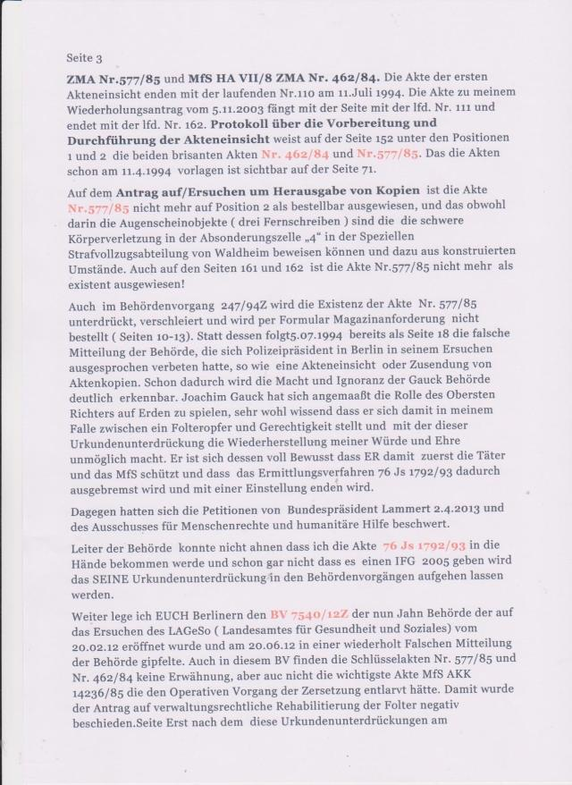 OFFENER BRIEF an den DEUTSCHEN BUNDESTAG vom 13.2.2015  wurde per Rückschein  vom 17.2.2015 bestätigt