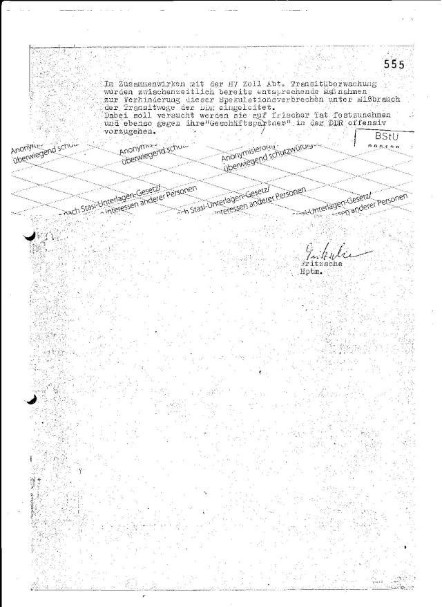 Das MfS erfährt das erste Mal (?) vom Quarzuhrenhandel von einem IM aus Westberlin !?? Wo sind die IM Berichte der über 200.000 DDR !?? Haben ALLE DDR IM´s versagt, j´keinen einzigen Bericht geliefert !?? Mielke hat getobt !!!