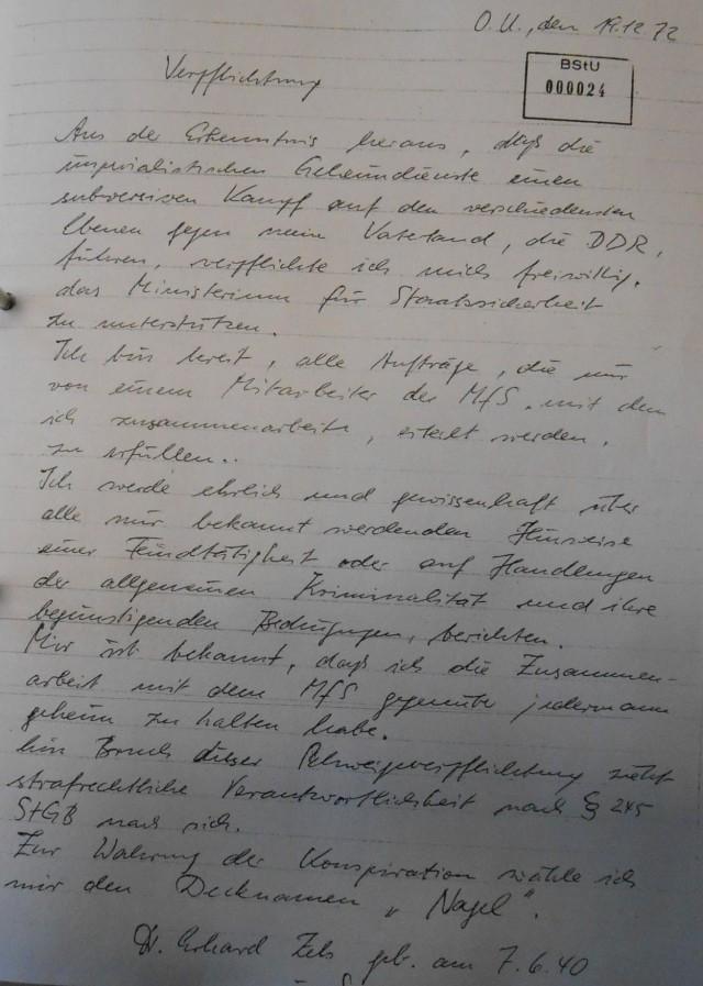 """IME NAGEL alias OMR Oberstleutnant Dr. Erhard Zels - Vollstrecker der """"lückenlosen medizinischen Betreuung"""" im Auftrag des MfS"""