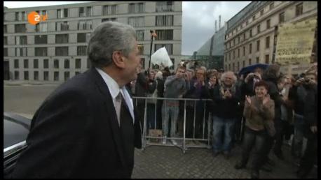 """Am 18.3.2012 - von der Reservebank zu, 11. Bundespräsidenten. """"Ich stehe hier und kann nicht anders !"""""""