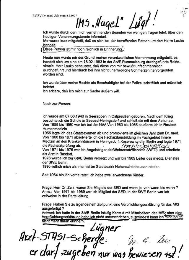 76 Js 1992/93 - Strafanzeige wurde 30.4.92 auf 56 Seiten -handgeschrieben - erstattet.
