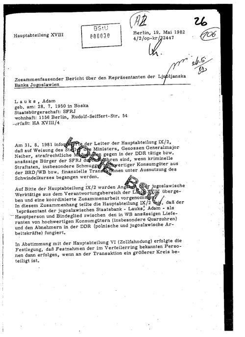 Akte  MfS 26 19-Mai 1992