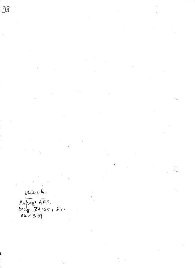 Anfrage AR 2 Bezüg. ZAIG 5 + SiVo am 1.3.94