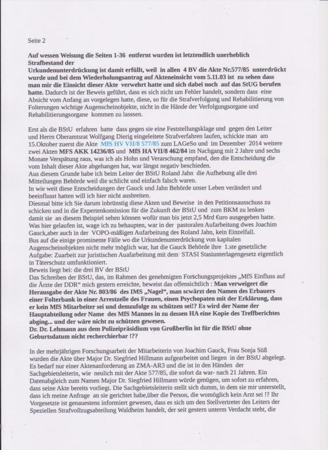 Wie groß muss dass Erpresserpotenzial der STASI sein - oder wie tief und durchdringend die Korruption !?? ... und der Bundestag ermittelt über Edathy weil er paar Bilder runtergeladen hatte !??