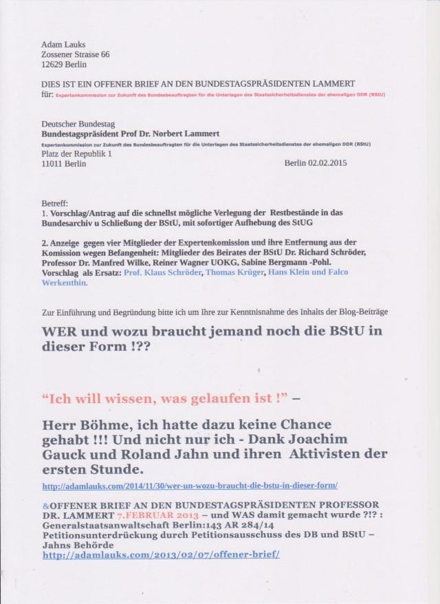 Für die Entdummung und Entgauckelung der Deutschen in Puncto STASI und Gaucksche und Jahnsche