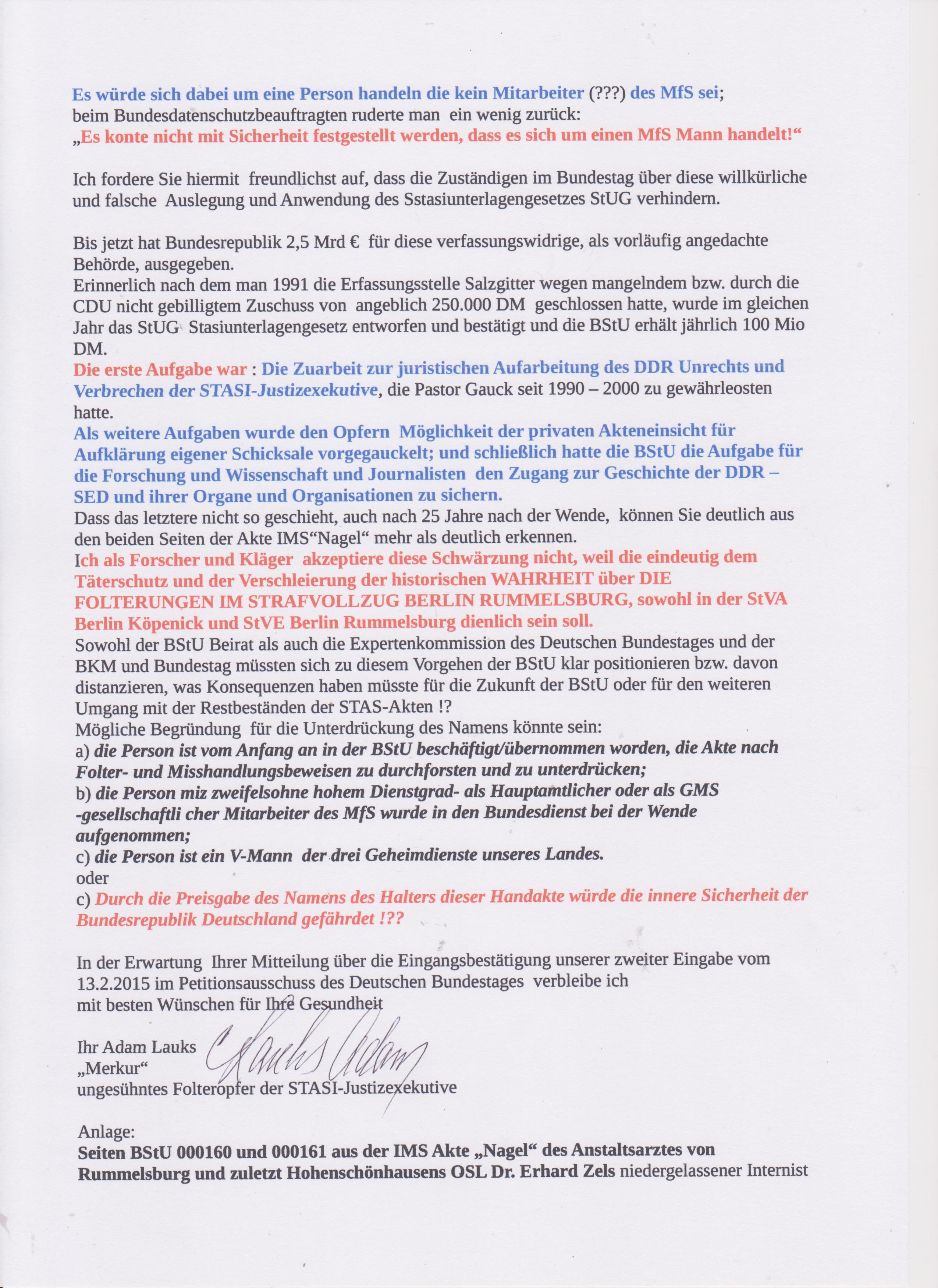 Offener Brief An Den Deutschen Bundestag Und An Alle Abgeordneten