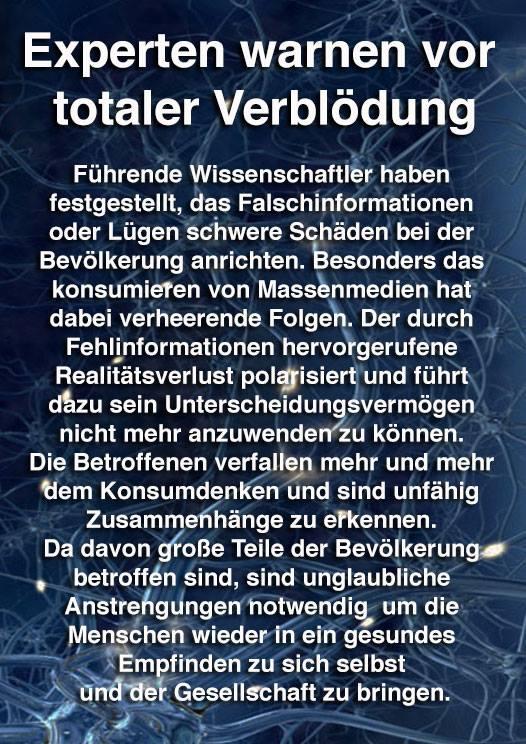 Deutschland braucht scheinbar keinen mündigen und denkfähigen , selbstbewußten Bürger.