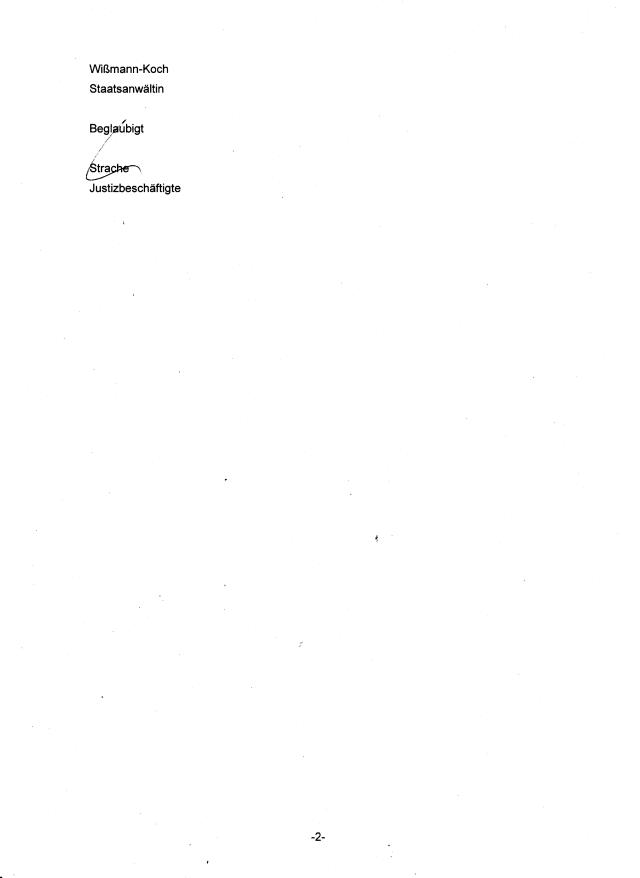 Ihrer angekündigten Beschwerdebegründung sehe bis zum 8. Mai 2015 entgegen. Sollte eine solche innerhalb der genannten Frist nicht zu oben genanntem Aktenzeichen zugegangen sein, werde ich das Verfahren ohne Weiteres der Generalstaatsanwaltschaft Berlin zur Prüfung vorlegn.