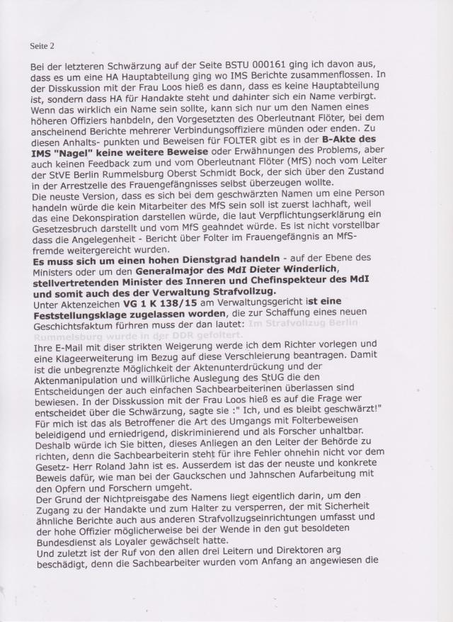 Who is fucked Loos? Was hat sie in der DDR gemacht. Von wem  erhielt Sie den Befehl das StUG zu brechwen !?? Vom Joachim Förster, Hatrald Booth oder Droysen von Hamilton !?? Alles Aktivisten der ersten Stude ...selbst Geheimdienstler !??