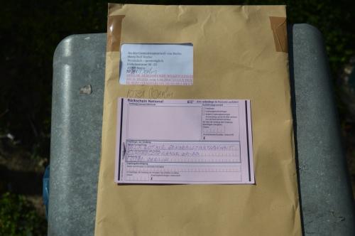 R-Brief kam zurück