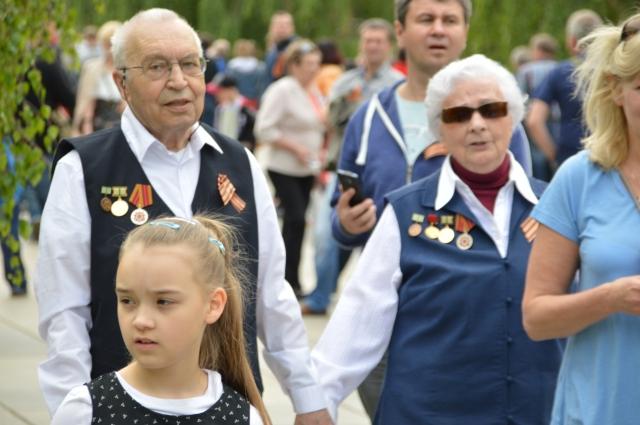 Auch ehemalige Angehörigen der Sowjet Armee waren gekommen - viele