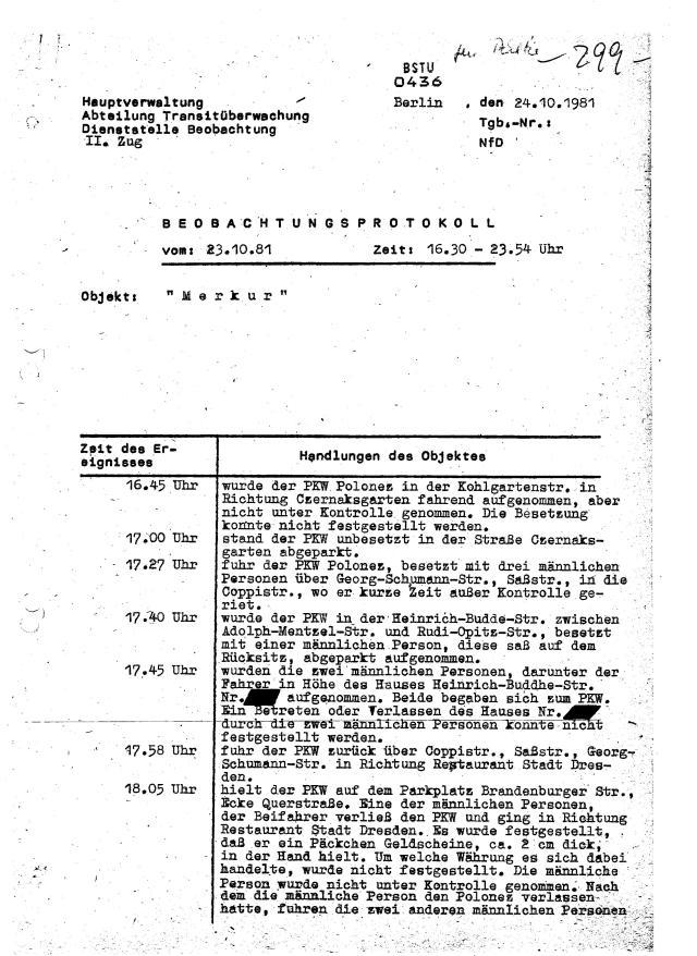 BEOBACHTUNGSPROTOKOLL Nr.10 OV `Merkur` 001