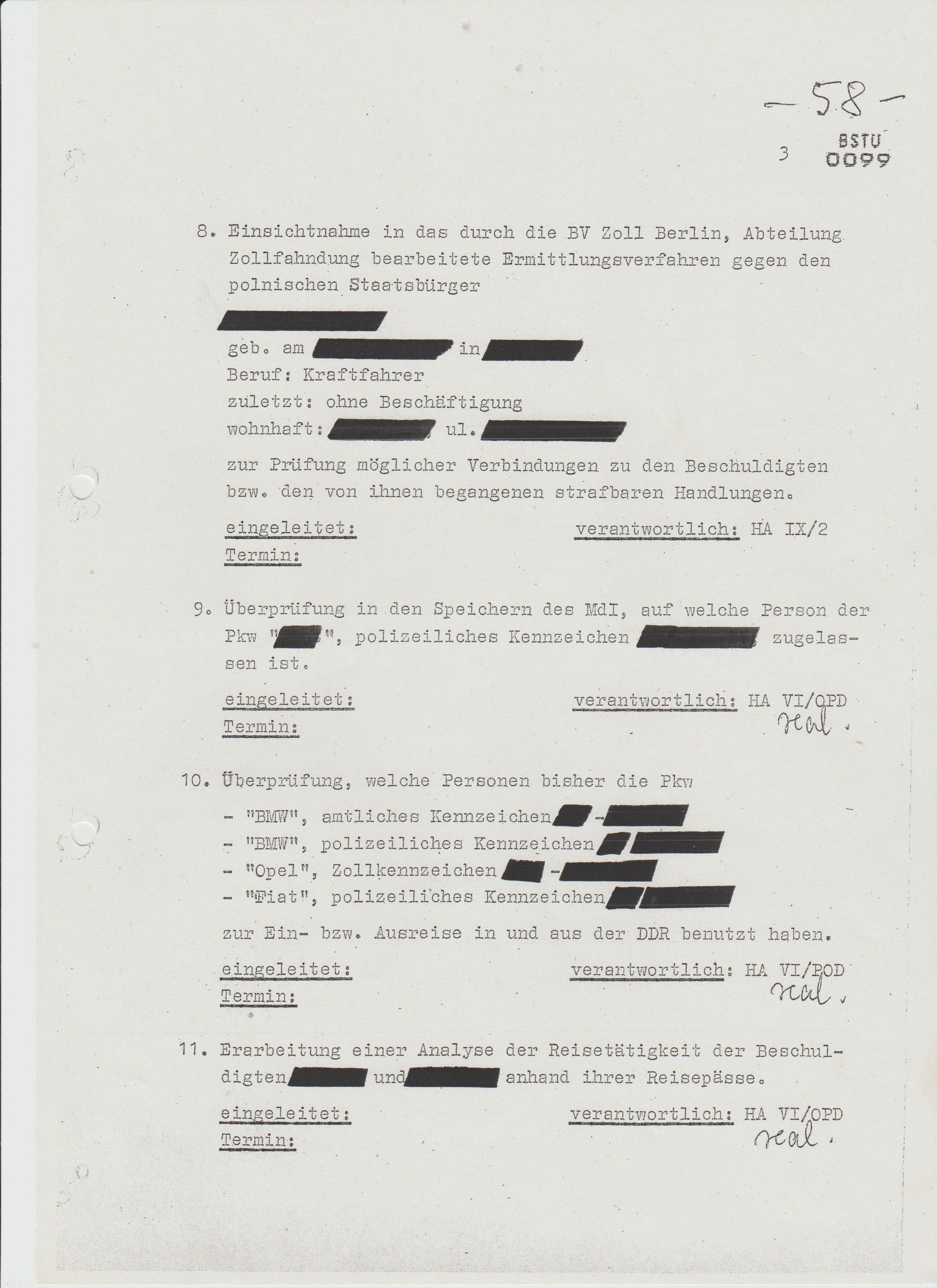 Punkt 11. Erarbeitung einer Analyse der Resetätigkeit der Beschuldigtten Sandro und Angtelov anhand ihrer Reisepässe.