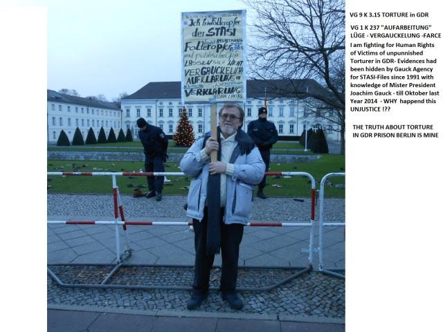 PROTEST gehört vor Gauck´s Schloss Bellevue - mit 500.000 Mann zum Wachwerden des pastoralen Vergangenheitsbewältiger und Begünstigten der STASI