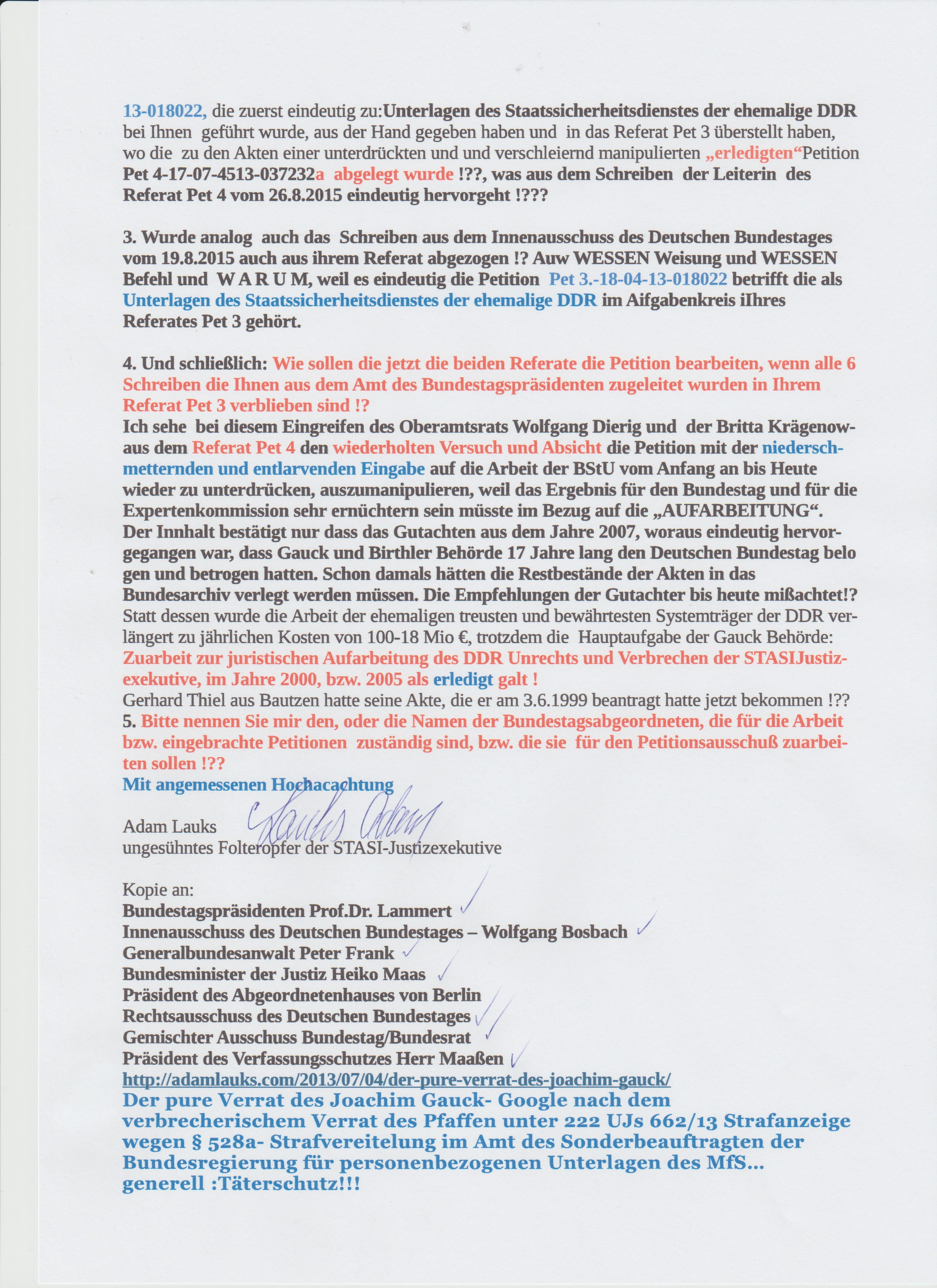 Bitte nennen Sie mir den oder die Namen der Bundestagsabgeordnweten, die für die Arbeit bzw. eingebrachte Petitionen zuständig sind und die dem Petitionsausschuss