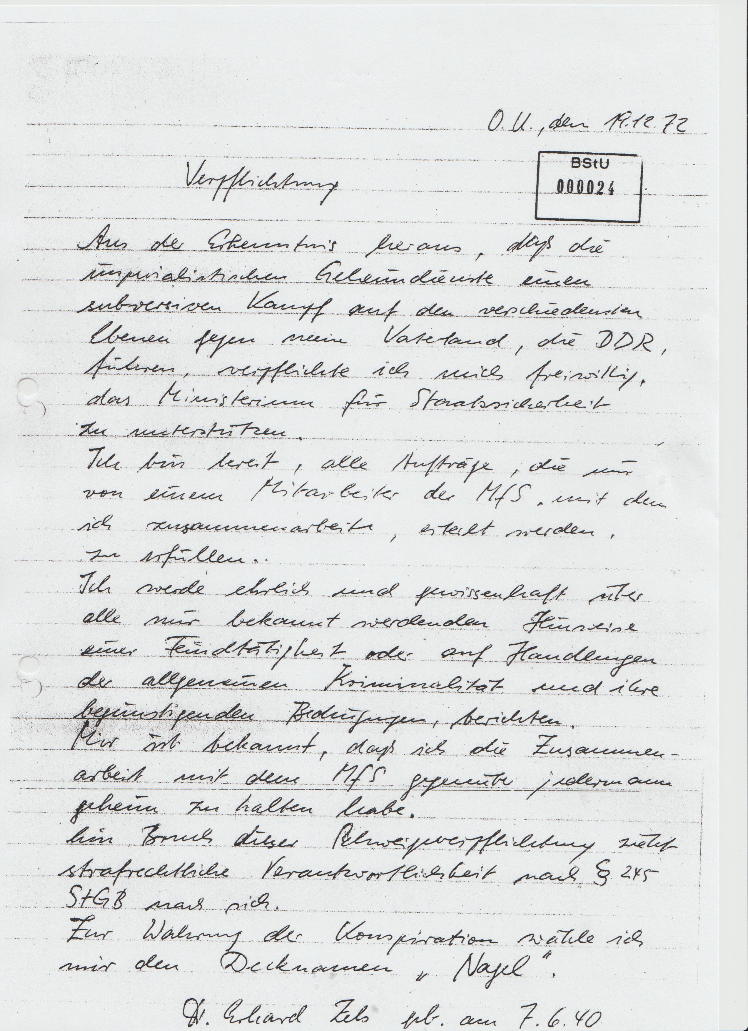 DDR Stempel Der Präsident der Volkskammer Kissen