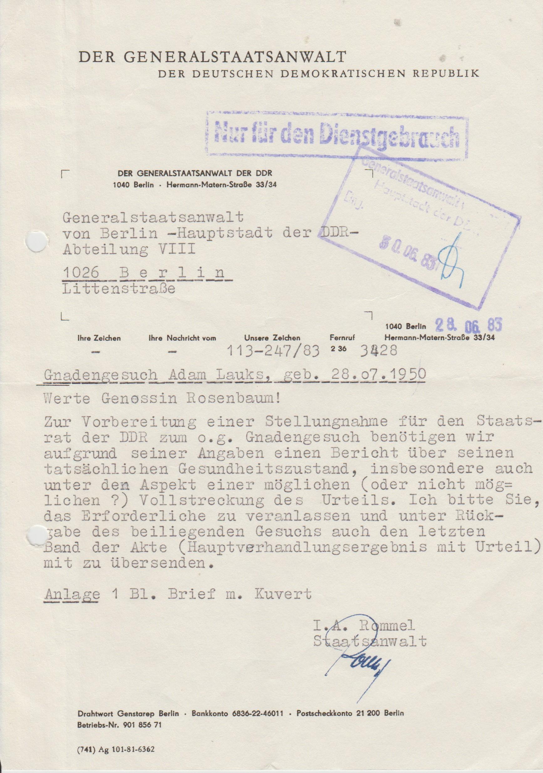 Briefe Nach Südkorea : Briefe aus dem jenseits kz berlin rummelsburg  an