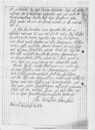 Verwirklichungsersuchen der Ausweisung ging auch ein am 7.6.1983... dem Antrag des RA Dr. Friedrich Wolff wurde dadurch stattgegebenb.