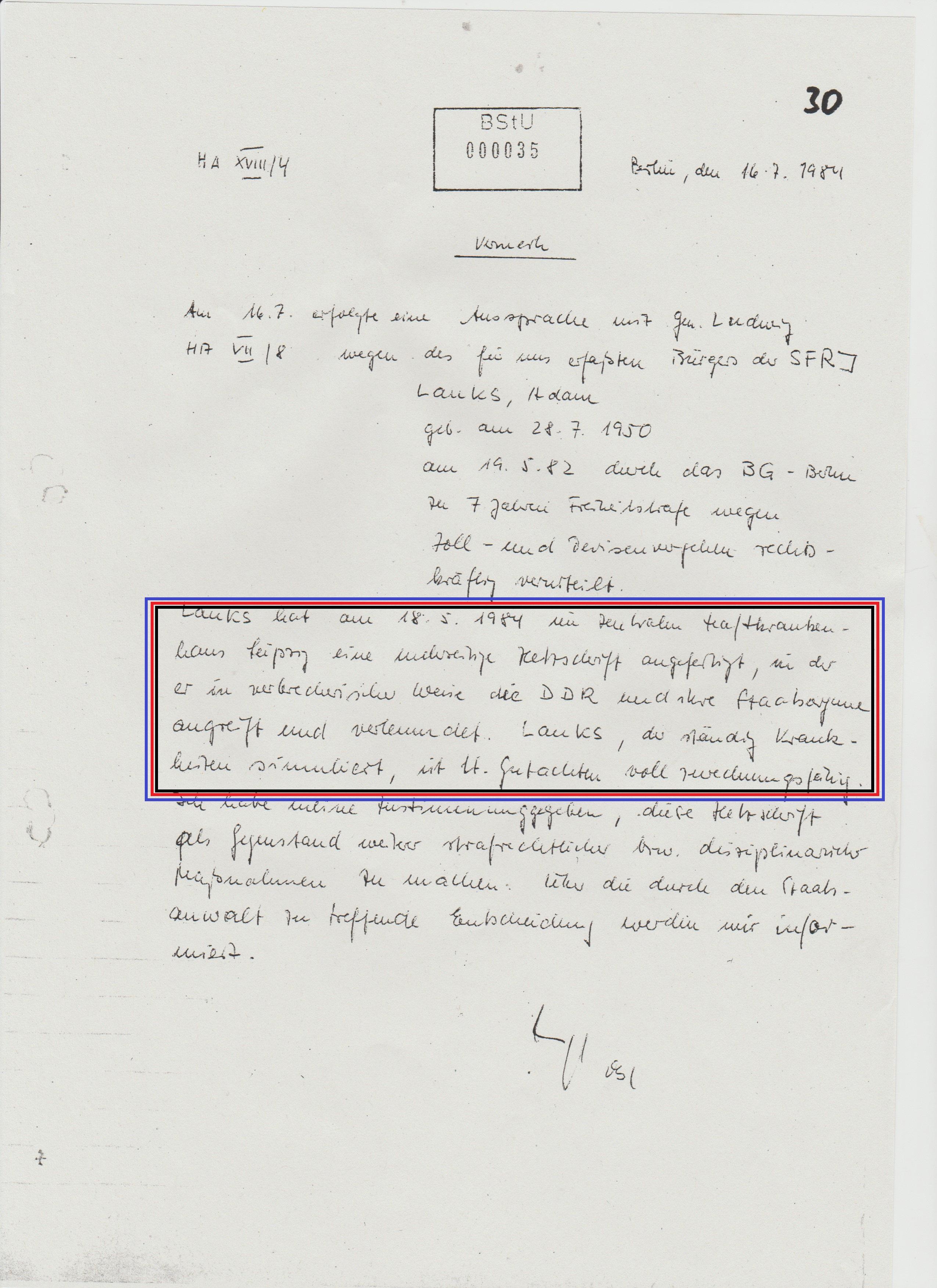 """IMS """"Georg Husfeldt"""" : Lauks hatte eine mehrseitige Hetzschrift verfasst..."""
