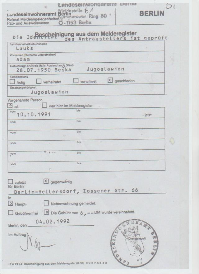 Für die Akteneinsicht eines Betroffenen wurde ein Identitätnachweis angefordert