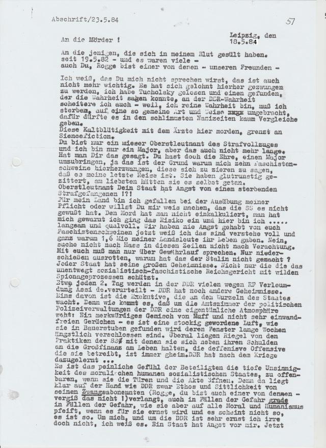 Als Germanist erkannte ich rechtzeiztig die Macht des gesprochenen und geschriebenen Wortest. 1982-1985 erkannte ich unter SEDlern nichtentnaziffizierte NAZIS in Arztmnteln. Dr. Mengeles Anhängerschaar - IMS Ärzte vollstreckten Befehle des MfS zu meiner Liquidierung.