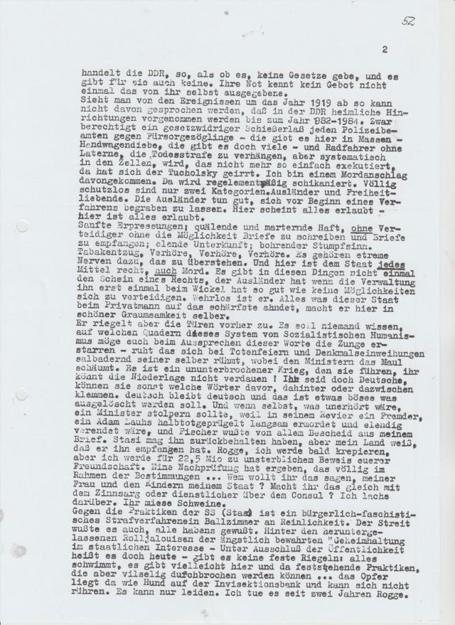 An die Mörder - Leipzig 1984