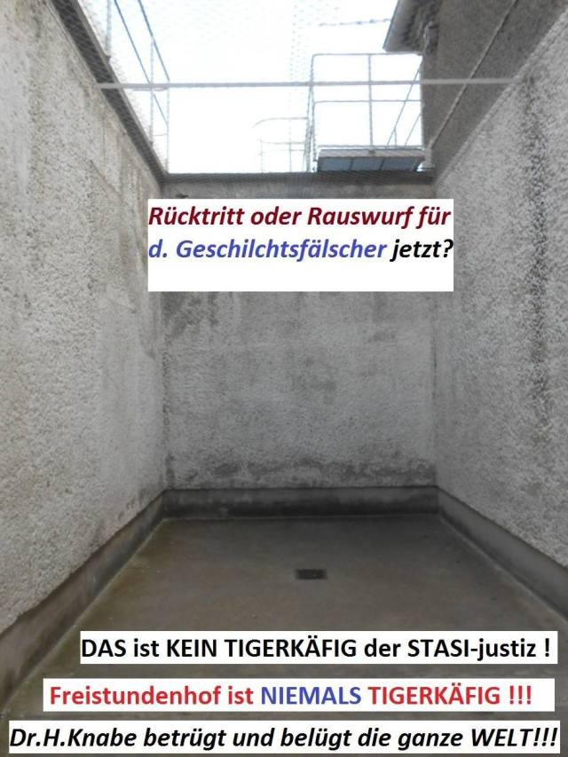 Freistundenhof des U-Haftkrankenreviers  in der Gedenkstätte Berlin Hohenschönhausen