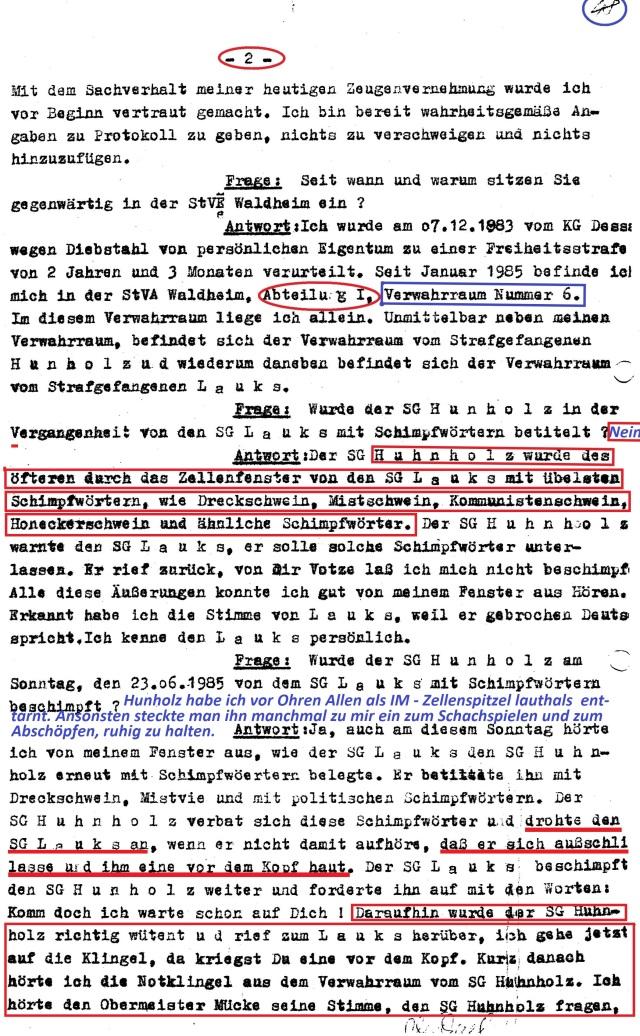 "K-2 Dezernat ""ermittelt"" als HA VII/8"