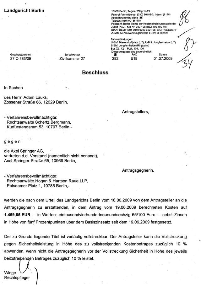 Widerspruch SPRINGER AG (57)